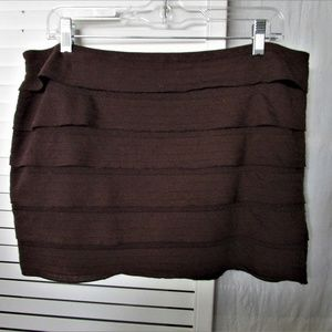 Studio M brown mini skirt petite large